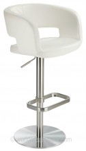 Claudio Real Leather Bar Stool White