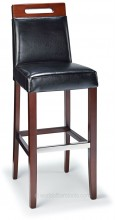 Modena Bar Stool Black & Walnut