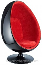 Egg Pod Chair Red