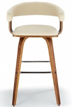 Rocco Bar Stool Cream & Walnut