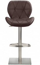 Profile Deluxe Brushed Stool Brown