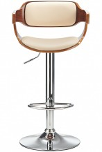 Logan Bar Stool Cream & Walnut