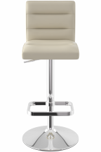 Deluxe Chrome Bar Stool Beige