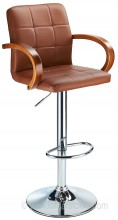 Finello Bar Stool Brown & Walnut