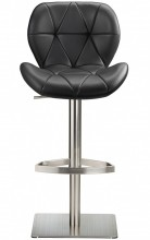 Profile Deluxe Brushed Stool Black