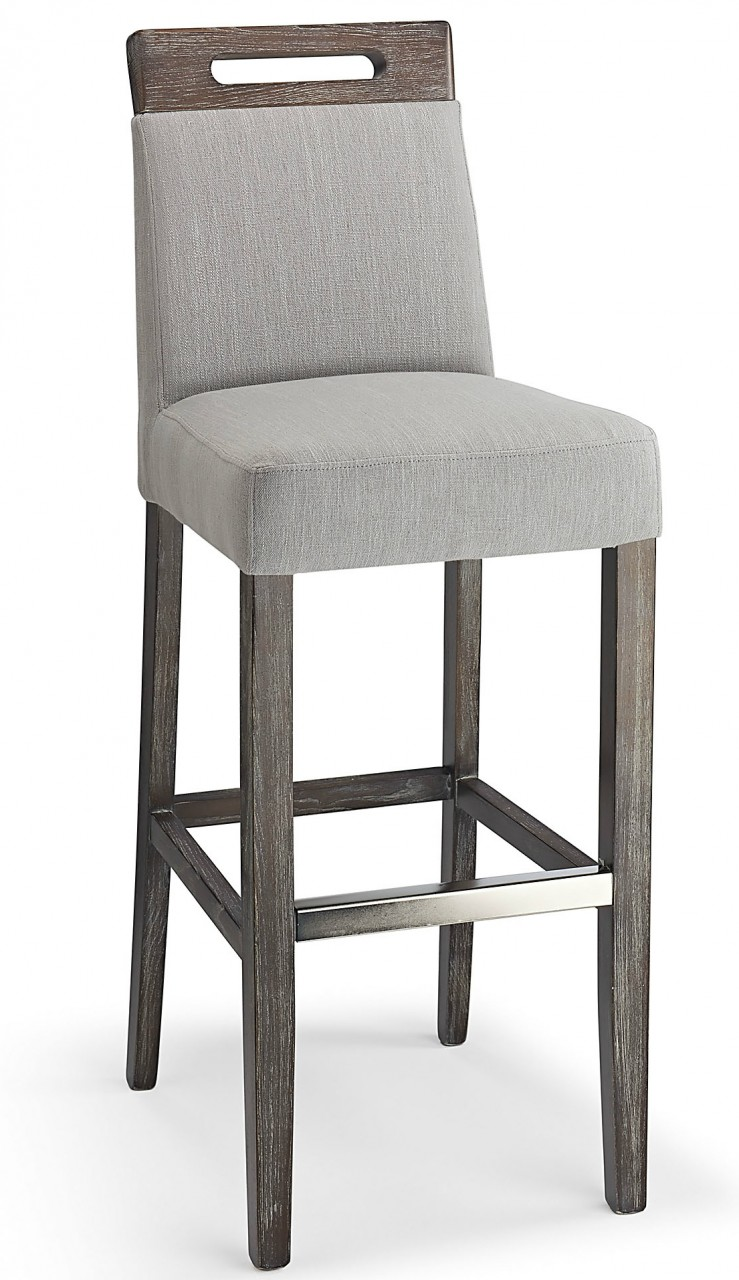 Modena Fabric Bar Stool Grey