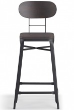 Farmhouse Bar Stool Black And Cherry
