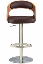 Marco Brushed Bar Stool Brown