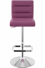 Deluxe Chrome Bar Stool Purple