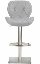 Profile Deluxe Stool Grey Leather