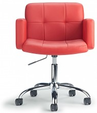 Captains Desk Chair Red
