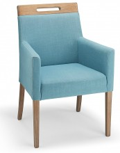 Modena Fabric Lounge Chair Teal
