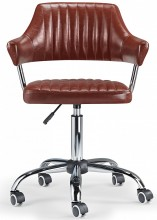 Aviator Desk Chair Brown