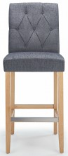 Rockport Oak Bar Stool Grey