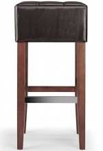 Cirocco Bar Stool Brown & Walnut