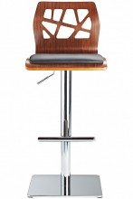 Funky Bar Stool Walnut