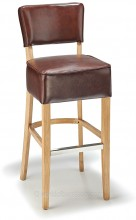 Genova Bar Stool Antique Brown & Rustic Oak